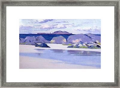 Low Tide  Iona Framed Print by Francis Campbell Boileau Cadell