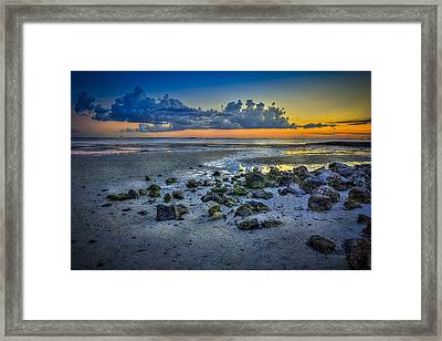 Low Tide On The Bay Framed Print by Marvin Spates