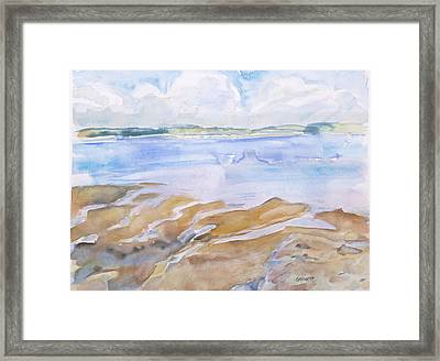 Low Tide - Penobscot Bay Framed Print by Grace Keown
