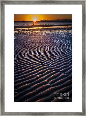 Low Tide Ripples Framed Print by Inge Johnsson