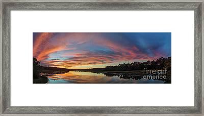 Lowcountry Sunset Charleston Sc Framed Print by Dustin K Ryan