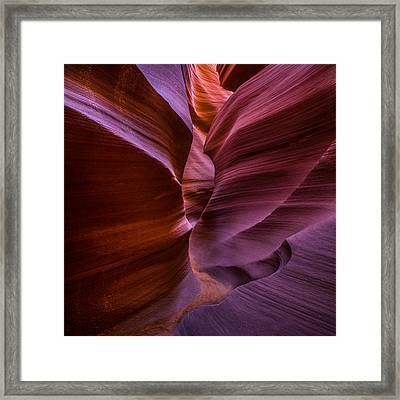 Lower Antelope Canyon Arizona - Square Framed Print by Larry Marshall