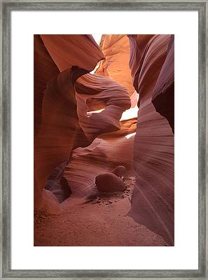 Lower Antelope Canyon Framed Print by Mike Herdering