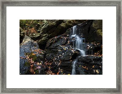 Lower Cascade Falls Close Up Framed Print by Chris Flees