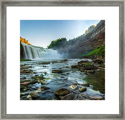 Lower Falls Genesee River Framed Print by Tim Buisman