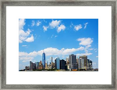 Lower Manhattan New York City Framed Print by Diane Diederich