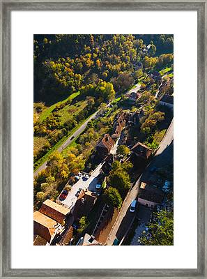 Lower Town Overview From The Ramparts Framed Print by Panoramic Images