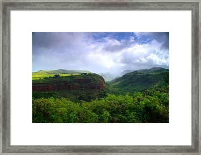 Lower Waimea Canyon Framed Print by Brian Harig