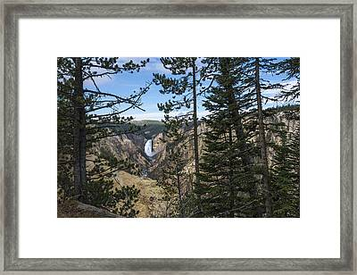 Lower Yellowstone Canyon Falls - Yellowstone National Park Wyoming Framed Print by Brian Harig