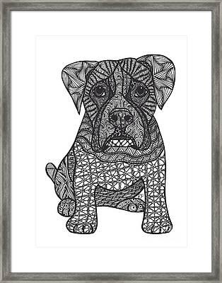 Loyalty- Boxer Dog Framed Print by Dianne Ferrer