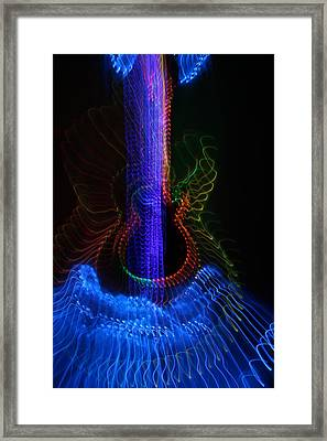 Lp 18 Angel Guitar Framed Print by Patrick Daniel Trombly