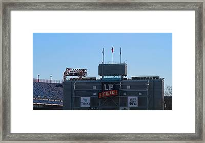 Lp Field Nashville Tennessee Framed Print by Dan Sproul