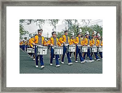 Lsu Marching Band Framed Print by Steve Harrington