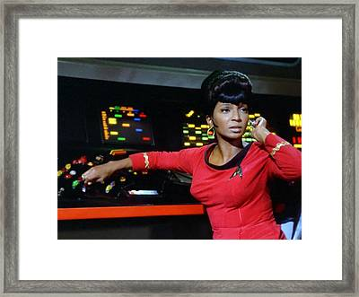 Lt Uhura Framed Print by Mountain Dreams