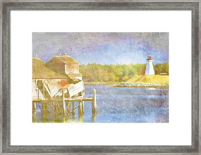 Lubec Maine To Campobello Island Framed Print by Carol Leigh