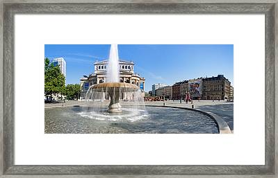 Lucae Fountain In Front Of Alte Oper Framed Print by Panoramic Images