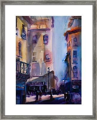 Lucca Street Scene Framed Print by Joe Giuffrida