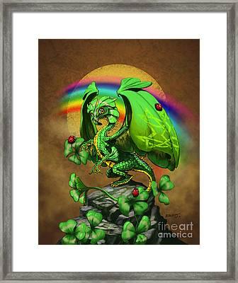 Luck Dragon Framed Print by Stanley Morrison