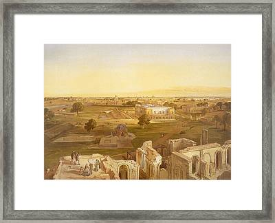 Lucknow, From India Ancient And Modern Framed Print by William 'Crimea' Simpson