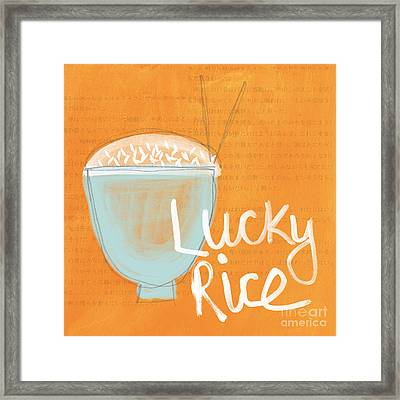 Lucky Rice Framed Print by Linda Woods