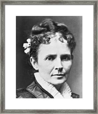 Lucretia Rudolph Garfield Framed Print by Underwood Archives