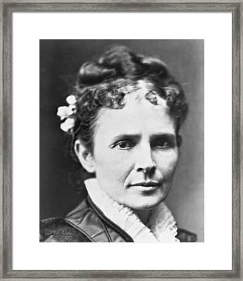 Lucretia Rudolph Garfield Framed Print by Underwood Archives