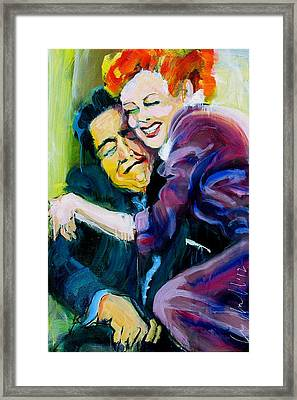 Lucy And Ricky Framed Print by Les Leffingwell
