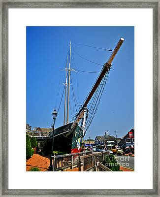 Lucy Evelyn At Schooner's Wharf Framed Print by Mark Miller