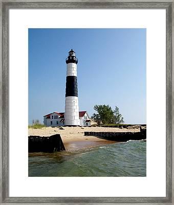 Ludington Michigan's Big Sable Lighthouse Framed Print by Michelle Calkins