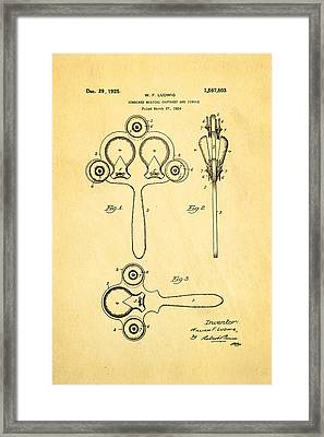 Ludwig Castanet Patent Art 1925  Framed Print by Ian Monk
