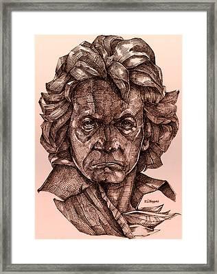 Ludwig Van Beethoven Framed Print by Derrick Higgins
