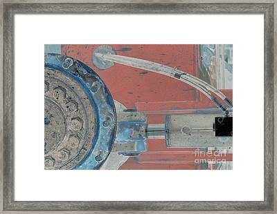 Lug Nut Wheel Left  Framed Print by Heather Kirk