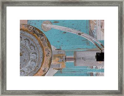 Lug Nut Wheel Left Turquoise And Copper Framed Print by Heather Kirk