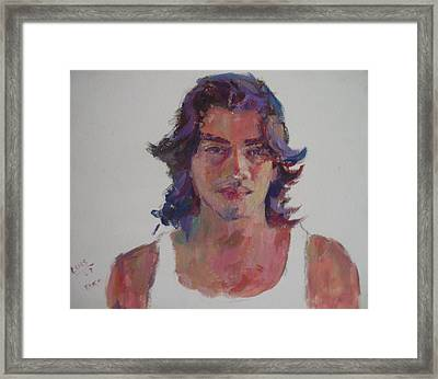 Luis Framed Print by Todd Taro