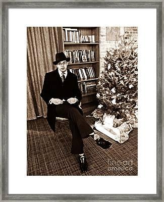 Luke On Christmas Eve Framed Print by Sarah Loft
