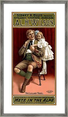 Lullaby Yodel Framed Print by Terry Reynoldson