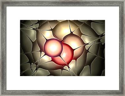 Luminous Orbs Framed Print by Anastasiya Malakhova