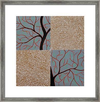 Luminous Tree Of Barsoom Framed Print by Sumit Mehndiratta