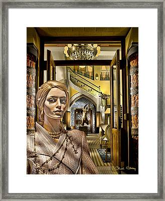 Luna At The Prague Hotel Framed Print by Chuck Staley