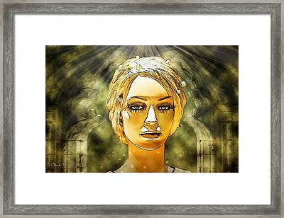 Luna In The Temple Of Doom Framed Print by Chuck Staley