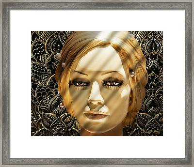 Luna Loves Art Deco Framed Print by Chuck Staley