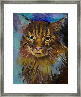 Luna Framed Print by Michael Creese