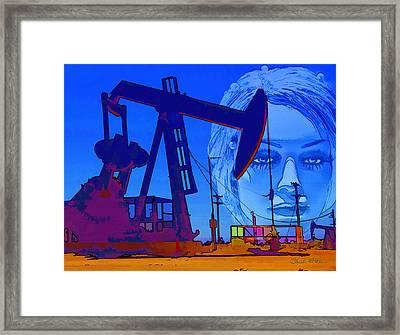 Luna Oil Well Framed Print by Chuck Staley