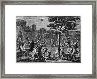 Lunar Eclipse Framed Print by Cci Archives