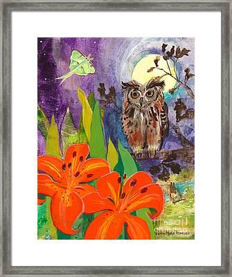 Lunar Enchantment Framed Print by Robin Maria  Pedrero
