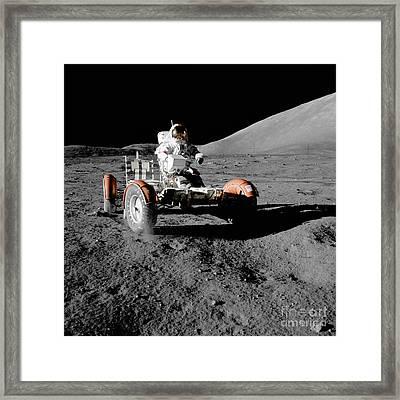 Lunar Ride Framed Print by Jon Neidert