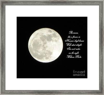 Lunar Verse Framed Print by Avis  Noelle