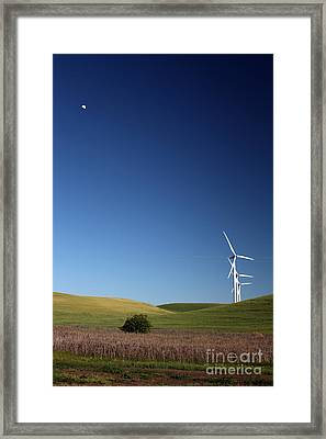 Lunar Winds Framed Print by Juan Romagosa