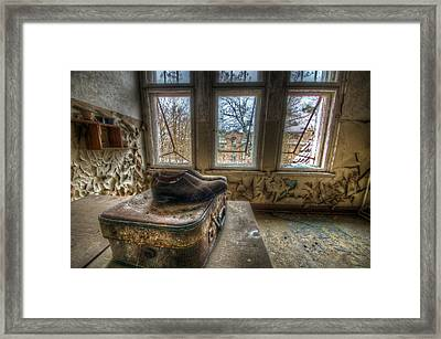 Lunatic Travel Time Framed Print by Nathan Wright