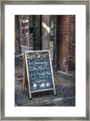 Lunch Specials Framed Print by Brenda Bryant